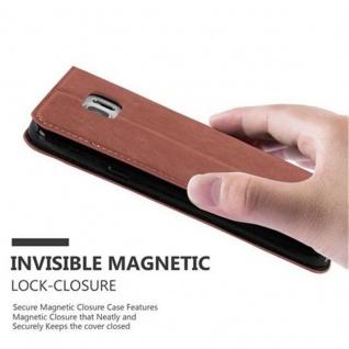 Cadorabo Hülle für Samsung Galaxy NOTE 5 in CAPPUCCINO BRAUN - Handyhülle mit Magnetverschluss, Standfunktion und Kartenfach - Case Cover Schutzhülle Etui Tasche Book Klapp Style - Vorschau 5