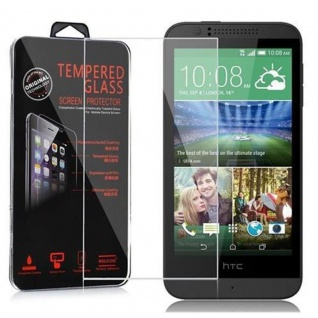 Cadorabo Panzer Folie für HTC Desire 510 - Schutzfolie in KRISTALL KLAR - Gehärtetes (Tempered) Display-Schutzglas in 9H Härte mit 3D Touch Kompatibilität