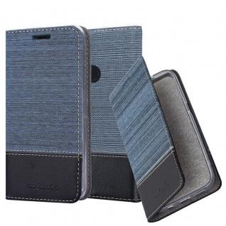 Cadorabo Hülle für Google Pixel 3 XL in DUNKEL BLAU SCHWARZ - Handyhülle mit Magnetverschluss, Standfunktion und Kartenfach - Case Cover Schutzhülle Etui Tasche Book Klapp Style