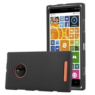 Cadorabo Hülle für Nokia Lumia 830 in FROST SCHWARZ - Handyhülle aus flexiblem TPU Silikon - Silikonhülle Schutzhülle Ultra Slim Soft Back Cover Case Bumper