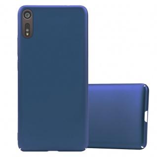 Cadorabo Hülle für Sony Xperia XZ / XZs in METALL BLAU Hardcase Handyhülle aus Plastik gegen Kratzer und Stöße Schutzhülle Bumper Ultra Slim Back Case Hard Cover