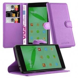 Cadorabo Hülle für OnePlus ONE 2 in MANGAN VIOLETT - Handyhülle mit Magnetverschluss, Standfunktion und Kartenfach - Case Cover Schutzhülle Etui Tasche Book Klapp Style