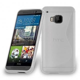 Cadorabo Hülle für HTC ONE M9 PLUS / ONE ME - Hülle in HALB TRANSPARENT ? Handyhülle aus flexiblem TPU Silikon im S-Line Design - Ultra Slim Soft Backcover Case Bumper