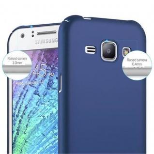 Cadorabo Hülle für Samsung Galaxy J1 2015 in METALL BLAU ? Hardcase Handyhülle aus Plastik gegen Kratzer und Stöße ? Schutzhülle Bumper Ultra Slim Back Case Hard Cover - Vorschau 5