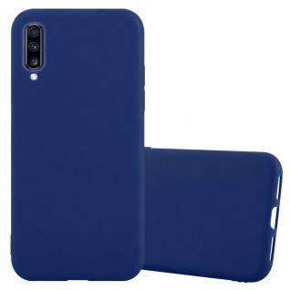 Cadorabo Hülle für Samsung Galaxy A70 in CANDY DUNKEL BLAU Handyhülle aus flexiblem TPU Silikon Silikonhülle Schutzhülle Ultra Slim Soft Back Cover Case Bumper