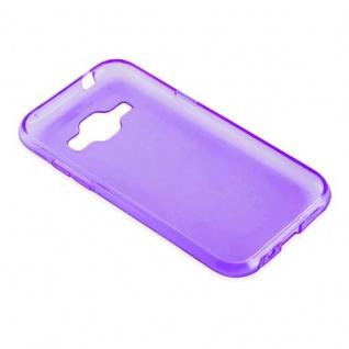 Cadorabo Hülle für Samsung Galaxy J1 2015 in TRANSPARENT LILA - Handyhülle aus flexiblem TPU Silikon - Silikonhülle Schutzhülle Ultra Slim Soft Back Cover Case Bumper - Vorschau 3