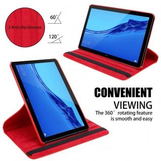 """"""" Cadorabo Tablet Hülle für Huawei MediaPad T5 10 (10, 1"""" Zoll) in MOHN ROT ? Book Style Schutzhülle OHNE Auto Wake Up mit Standfunktion und Gummiband Verschluss"""" - Vorschau 5"""