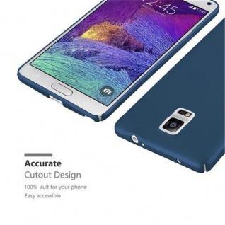 Cadorabo Hülle für Samsung Galaxy NOTE 4 in METALL BLAU - Hardcase Handyhülle aus Plastik gegen Kratzer und Stöße - Schutzhülle Bumper Ultra Slim Back Case Hard Cover - Vorschau 5