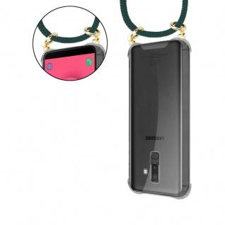 Cadorabo Handy Kette für Samsung Galaxy J8 2018 in ARMEE GRÜN - Silikon Necklace Umhänge Hülle mit Gold Ringen, Kordel Band Schnur und abnehmbarem Etui ? Schutzhülle - Vorschau 5