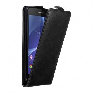 Cadorabo Hülle für Sony Xperia Z3 in NACHT SCHWARZ - Handyhülle im Flip Design mit unsichtbarem Magnetverschluss - Case Cover Schutzhülle Etui Tasche Book Klapp Style