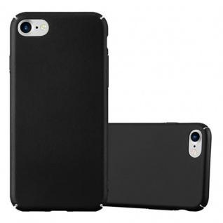 Cadorabo Hülle für Apple iPhone 7 / iPhone 7S / iPhone 8 in METALL SCHWARZ - Hardcase Handyhülle aus Plastik gegen Kratzer und Stöße - Schutzhülle Bumper Ultra Slim Back Case Hard Cover