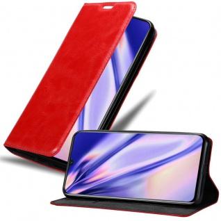 Cadorabo Hülle für MEIZU NOTE 9 in APFEL ROT - Handyhülle mit Magnetverschluss, Standfunktion und Kartenfach - Case Cover Schutzhülle Etui Tasche Book Klapp Style