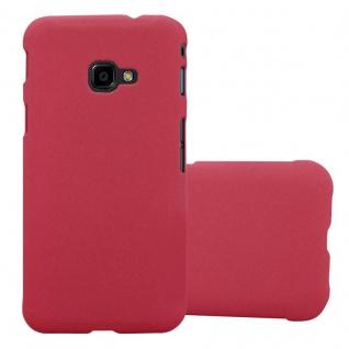 Cadorabo Hülle für Samsung Galaxy XCover 4 in FROSTY ROT - Hardcase Handyhülle aus Plastik gegen Kratzer und Stöße - Schutzhülle Bumper Ultra Slim Back Case Hard Cover