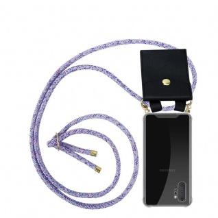 Cadorabo Handy Kette für Samsung Galaxy NOTE 10 PLUS in UNICORN Silikon Necklace Umhänge Hülle mit Gold Ringen, Kordel Band Schnur und abnehmbarem Etui Schutzhülle