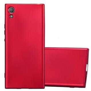Cadorabo Hülle für Sony Xperia XA1 in METALLIC ROT - Handyhülle aus flexiblem TPU Silikon - Silikonhülle Schutzhülle Ultra Slim Soft Back Cover Case Bumper