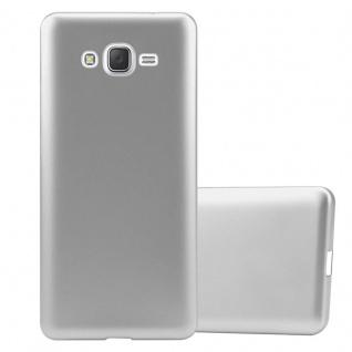Cadorabo Hülle für Samsung Galaxy J7 2015 in METALLIC SILBER - Handyhülle aus flexiblem TPU Silikon - Silikonhülle Schutzhülle Ultra Slim Soft Back Cover Case Bumper