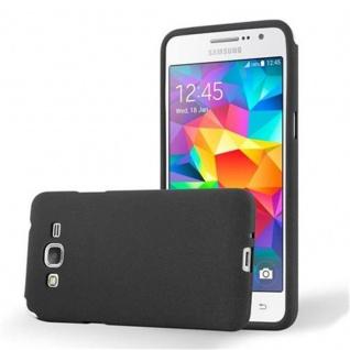 Cadorabo Hülle für Samsung Galaxy GRAND PRIME in FROST SCHWARZ - Handyhülle aus flexiblem TPU Silikon - Silikonhülle Schutzhülle Ultra Slim Soft Back Cover Case Bumper
