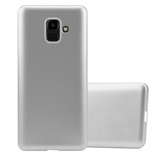 Cadorabo Hülle für Samsung Galaxy J6 2016 in METALLIC SILBER - Handyhülle aus flexiblem TPU Silikon - Silikonhülle Schutzhülle Ultra Slim Soft Back Cover Case Bumper