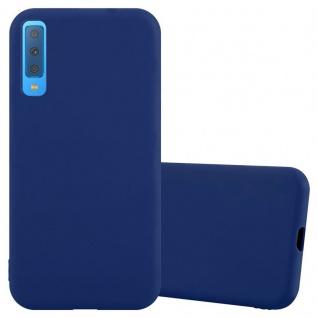 Cadorabo Hülle für Samsung Galaxy A7 2018 in CANDY DUNKEL BLAU Handyhülle aus flexiblem TPU Silikon Silikonhülle Schutzhülle Ultra Slim Soft Back Cover Case Bumper