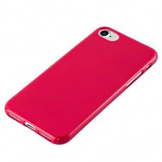 Cadorabo Hülle für Apple iPhone 7 / iPhone 7S / iPhone 8 in JELLY ROT - Handyhülle aus flexiblem TPU Silikon - Silikonhülle Schutzhülle Ultra Slim Soft Back Cover Case Bumper - Vorschau 2