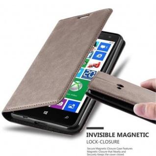 Cadorabo Hülle für Nokia Lumia 625 in KAFFEE BRAUN - Handyhülle mit Magnetverschluss, Standfunktion und Kartenfach - Case Cover Schutzhülle Etui Tasche Book Klapp Style