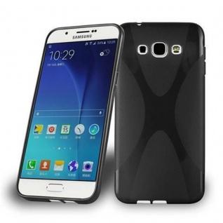 Cadorabo Hülle für Samsung Galaxy A8 2015 in OXID SCHWARZ - Handyhülle aus flexiblem TPU Silikon - Silikonhülle Schutzhülle Ultra Slim Soft Back Cover Case Bumper - Vorschau 1