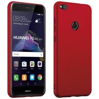 Cadorabo Hülle für Huawei P8 LITE 2017 in METALL ROT ? Hardcase Handyhülle aus Plastik gegen Kratzer und Stöße ? Schutzhülle Bumper Ultra Slim Back Case Hard Cover