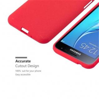 Cadorabo Hülle für Samsung Galaxy J3 / J3 DUOS 2016 in FROST ROT - Handyhülle aus flexiblem TPU Silikon - Silikonhülle Schutzhülle Ultra Slim Soft Back Cover Case Bumper - Vorschau 3