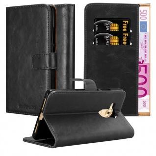 Cadorabo Hülle für Huawei MATE 8 in GRAPHIT SCHWARZ ? Handyhülle mit Magnetverschluss, Standfunktion und Kartenfach ? Case Cover Schutzhülle Etui Tasche Book Klapp Style