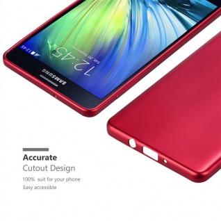 Cadorabo Hülle für Samsung Galaxy A7 2015 in METALLIC ROT - Handyhülle aus flexiblem TPU Silikon - Silikonhülle Schutzhülle Ultra Slim Soft Back Cover Case Bumper - Vorschau 5