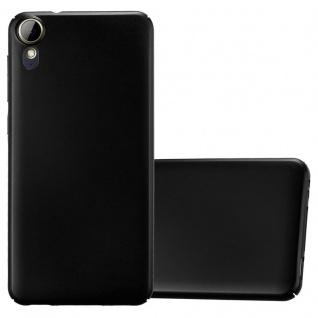 Cadorabo Hülle für HTC Desire 10 Lifestyle / Desire 825 in METALL SCHWARZ - Hardcase Handyhülle aus Plastik gegen Kratzer und Stöße - Schutzhülle Bumper Ultra Slim Back Case Hard Cover