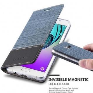 Cadorabo Hülle für Samsung Galaxy A5 2016 in DUNKEL BLAU SCHWARZ - Handyhülle mit Magnetverschluss, Standfunktion und Kartenfach - Case Cover Schutzhülle Etui Tasche Book Klapp Style