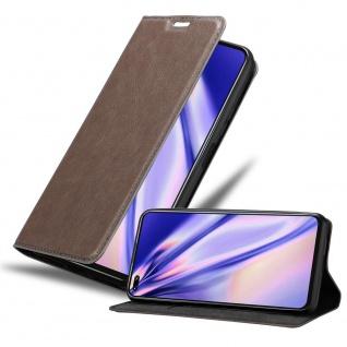 Cadorabo Hülle für Honor View 30 pro in KAFFEE BRAUN Handyhülle mit Magnetverschluss, Standfunktion und Kartenfach Case Cover Schutzhülle Etui Tasche Book Klapp Style