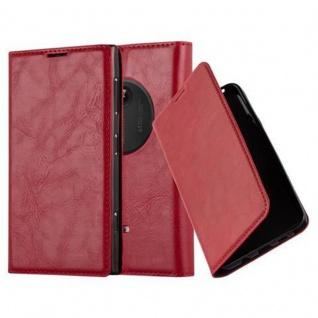 Cadorabo Hülle für Nokia Lumia 1020 in APFEL ROT - Handyhülle mit Magnetverschluss, Standfunktion und Kartenfach - Case Cover Schutzhülle Etui Tasche Book Klapp Style