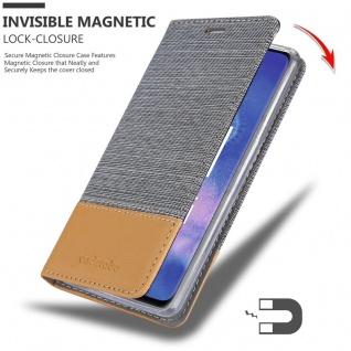 Cadorabo Hülle für Huawei MATE 20 PRO in HELL GRAU BRAUN - Handyhülle mit Magnetverschluss, Standfunktion und Kartenfach - Case Cover Schutzhülle Etui Tasche Book Klapp Style - Vorschau 3