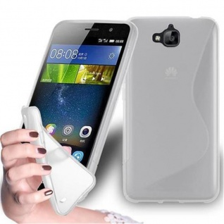 Cadorabo Hülle für Huawei G8 MINI / Enjoy 5S in HALB TRANSPARENT ? Handyhülle aus flexiblem TPU Silikon ? Silikonhülle Schutzhülle Ultra Slim Soft Back Cover Case Bumper