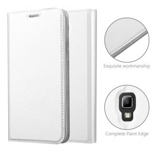 Cadorabo Hülle für Samsung Galaxy S4 Active in CLASSY SILBER - Handyhülle mit Magnetverschluss, Standfunktion und Kartenfach - Case Cover Schutzhülle Etui Tasche Book Klapp Style - Vorschau 5