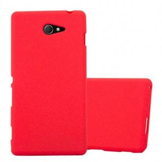 Cadorabo Hülle für Sony Xperia M2 / M2 Aqua in FROST ROT - Handyhülle aus flexiblem TPU Silikon - Silikonhülle Schutzhülle Ultra Slim Soft Back Cover Case Bumper
