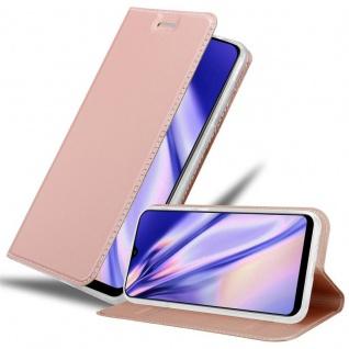 Cadorabo Hülle für Samsung Galaxy A30S in CLASSY ROSÉ GOLD - Handyhülle mit Magnetverschluss, Standfunktion und Kartenfach - Case Cover Schutzhülle Etui Tasche Book Klapp Style - Vorschau 1