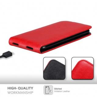 Cadorabo Hülle für Cubot Nova in APFEL ROT Handyhülle im Flip Design mit Magnetverschluss Case Cover Schutzhülle Etui Tasche Book Klapp Style - Vorschau 3