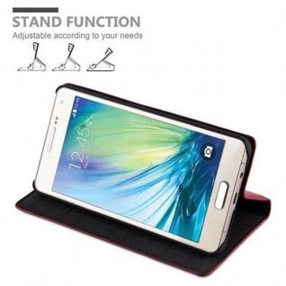 Cadorabo Hülle für Samsung Galaxy A5 2015 in APFEL ROT - Handyhülle mit Magnetverschluss, Standfunktion und Kartenfach - Case Cover Schutzhülle Etui Tasche Book Klapp Style - Vorschau 5
