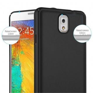 Cadorabo Hülle für Samsung Galaxy NOTE 3 in METALL SCHWARZ - Hardcase Handyhülle aus Plastik gegen Kratzer und Stöße - Schutzhülle Bumper Ultra Slim Back Case Hard Cover - Vorschau 5