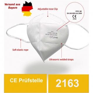 10x Atemschutzmaske FFP2 Norm CE 2163 EN149:2001 - in weiß