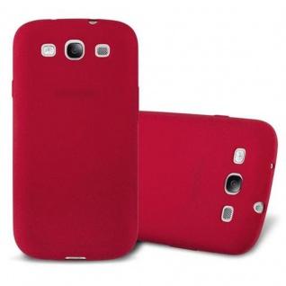 Cadorabo Hülle für Samsung Galaxy S3 in FROST ROT - Handyhülle aus flexiblem TPU Silikon - Silikonhülle Schutzhülle Ultra Slim Soft Back Cover Case Bumper