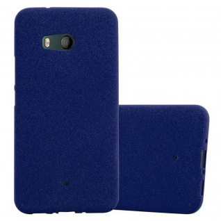 Cadorabo Hülle für HTC OCEAN / U11 in FROST DUNKEL BLAU Handyhülle aus flexiblem TPU Silikon Silikonhülle Schutzhülle Ultra Slim Soft Back Cover Case Bumper