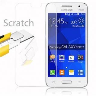 Cadorabo Panzer Folie für Samsung Galaxy CORE 2 - Schutzfolie in KRISTALL KLAR - Gehärtetes (Tempered) Display-Schutzglas in 9H Härte mit 3D Touch Kompatibilität - Vorschau 2