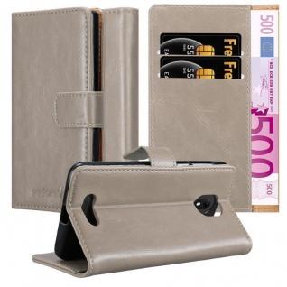 Cadorabo Hülle für WIKO VIEW GO in CAPPUCCINO BRAUN Handyhülle mit Magnetverschluss, Standfunktion und Kartenfach Case Cover Schutzhülle Etui Tasche Book Klapp Style