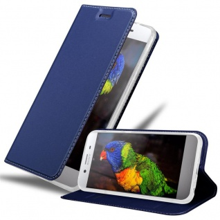 Cadorabo Hülle für Sony Xperia XZ Premium in CLASSY DUNKEL BLAU - Handyhülle mit Magnetverschluss, Standfunktion und Kartenfach - Case Cover Schutzhülle Etui Tasche Book Klapp Style