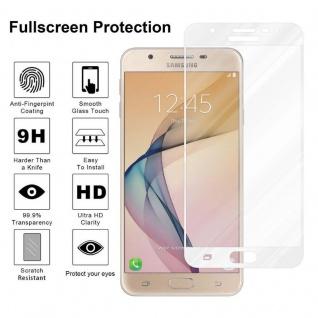 Cadorabo Vollbild Panzer Folie für Samsung Galaxy J7 PRIME / ON7 2016 - Schutzfolie in TRANSPARENT mit WEISS - Gehärtetes (Tempered) Display-Schutzglas in 9H Härte mit 3D Touch Kompatibilität - Vorschau 4