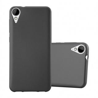 Cadorabo Hülle für HTC 10 LIFESTYLE / DESIRE 825 in METALLIC GRAU - Handyhülle aus flexiblem TPU Silikon - Silikonhülle Schutzhülle Ultra Slim Soft Back Cover Case Bumper